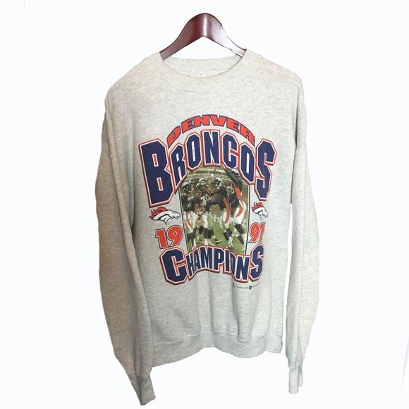 Fruit of the Loom Other - Denver Broncos 1997 White Sweatshirt Size XL